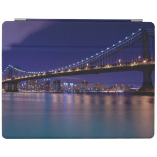 View of Manhattan bridge at night iPad Cover
