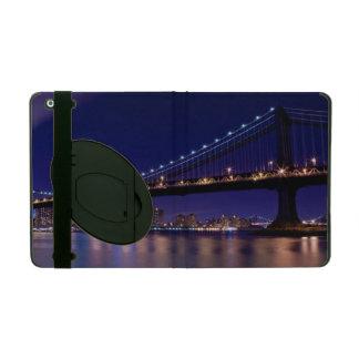 View of Manhattan bridge at night iPad Cover