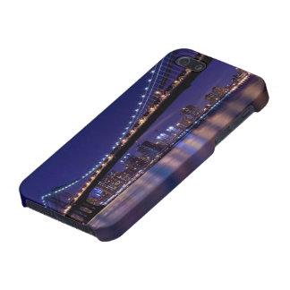 View of Manhattan bridge at night iPhone 5/5S Case