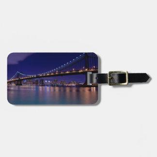View of Manhattan bridge at night Luggage Tag