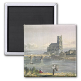 View of Mantes, from 'Views on the Seine', engrave Magnet