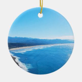 View of Manzanita Beach, Oregon Coast Christmas Ornament