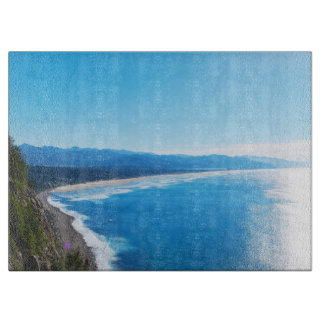View of Manzanita Beach, Oregon Coast Cutting Board