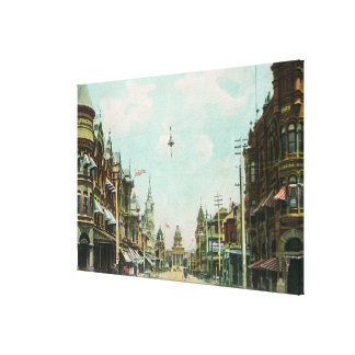 View of Mariposa Street Facing City Hall Canvas Print