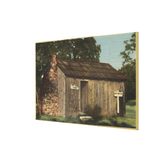 View of Mark Twain Cabin on Jackass Hill Canvas Print