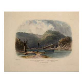View of Mauch-Chunk Pennsylvania by Karl Bodmer Poster