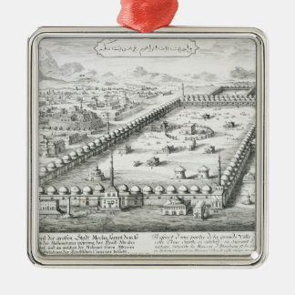 View of Mecca, from 'Entwurf einer historischen Ar Christmas Ornament