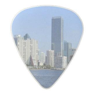 View of Miami Skyline Acetal Guitar Pick