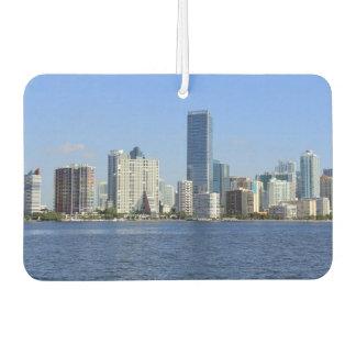 View of Miami Skyline Car Air Freshener