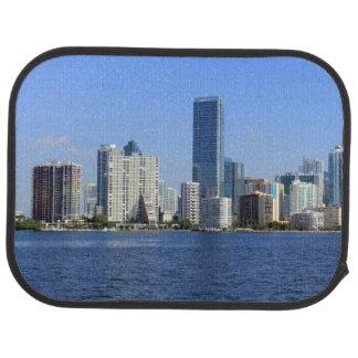 View of Miami Skyline Car Mat
