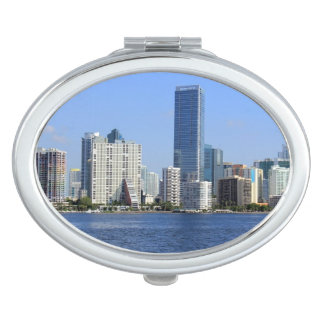 View of Miami Skyline Compact Mirrors