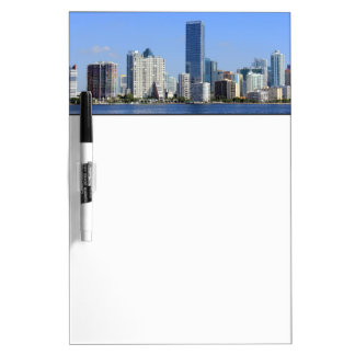 View of Miami Skyline Dry Erase Board