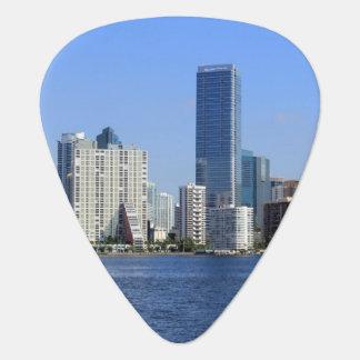 View of Miami Skyline Guitar Pick