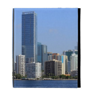 View of Miami Skyline iPad Cases