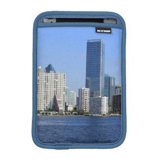 View of Miami Skyline iPad Mini Sleeve