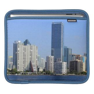 View of Miami Skyline iPad Sleeve
