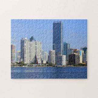 View of Miami Skyline Jigsaw Puzzle