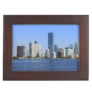 View of Miami Skyline Keepsake Box