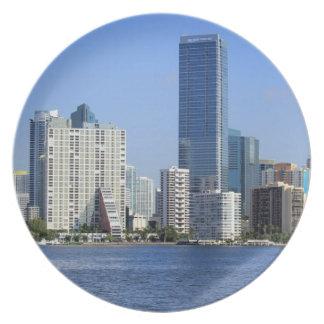 View of Miami Skyline Plate
