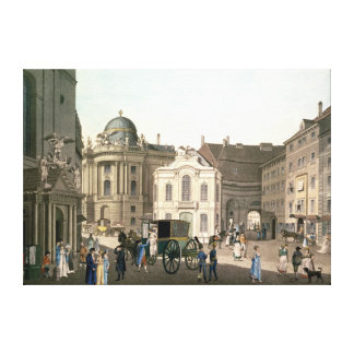 View of Michaelerplatz showing the Burgtheater Stretched Canvas Prints