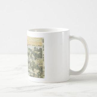 View of Mimeguri, Toyoharu, 1780 mug, customizable Basic White Mug