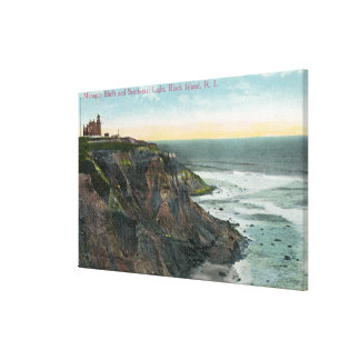 View of Mohegan Bluffs and Southeast Canvas Print