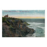 View of Mohegan Bluffs and Southeast Poster