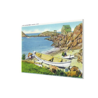 View of Monhegan Island, Beach Scene Canvas Print