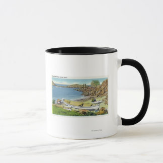 View of Monhegan Island, Beach Scene Mug