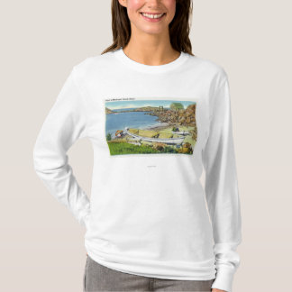 View of Monhegan Island, Beach Scene T-Shirt