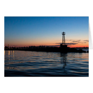 View Of Montevideo At Dawn, Uruguay Card