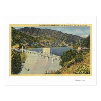 View of Morris San Gabriel Dam Postcard