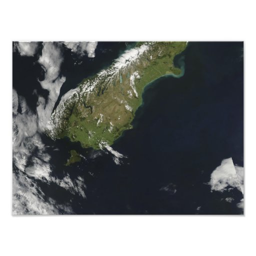 View of most of the South Island of New Zealand Photo