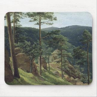 View of Mount Brocken, 1829 Mouse Mat