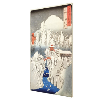 View of Mount Haruna in the Snow Canvas Print