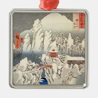 View of Mount Haruna in the Snow Christmas Ornament