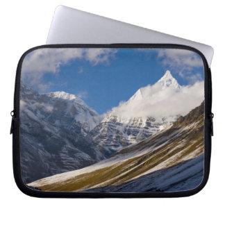 View of Mount Jichu Drake, Bhutan. Laptop Sleeve