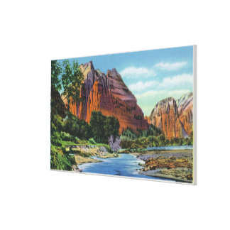 View of Mount Majestic and Angel's Landing Canvas Print