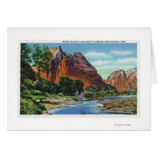 View of Mount Majestic and Angel's Landing Card