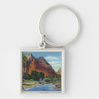 View of Mount Majestic and Angel's Landing Key Ring