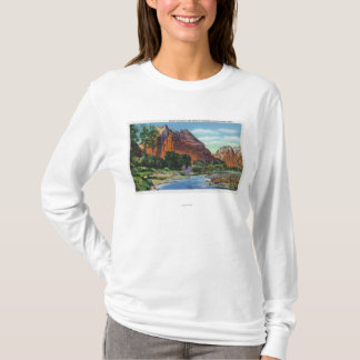 View of Mount Majestic and Angel's Landing T-Shirt