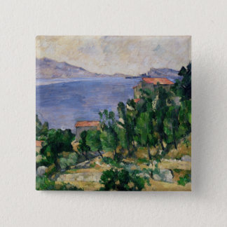 View of Mount Marseilleveyre and the Isle of 15 Cm Square Badge