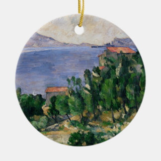 View of Mount Marseilleveyre and the Isle Round Ceramic Decoration