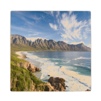 View Of Mountains With Clouds And Fynbos Wood Coaster