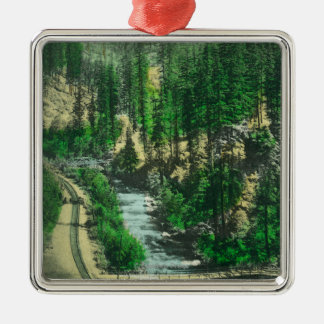View of Mt. Shasta from Shasta Retreat Christmas Ornament