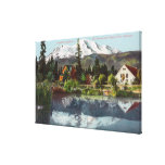 View of Mt. Shasta from the Sisson Fish Hatchery Stretched Canvas Print