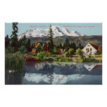 View of Mt. Shasta from the Sisson Fish Hatchery Posters