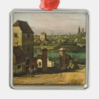 View of Munich, c. 1761 (oil on canvas) Christmas Ornament