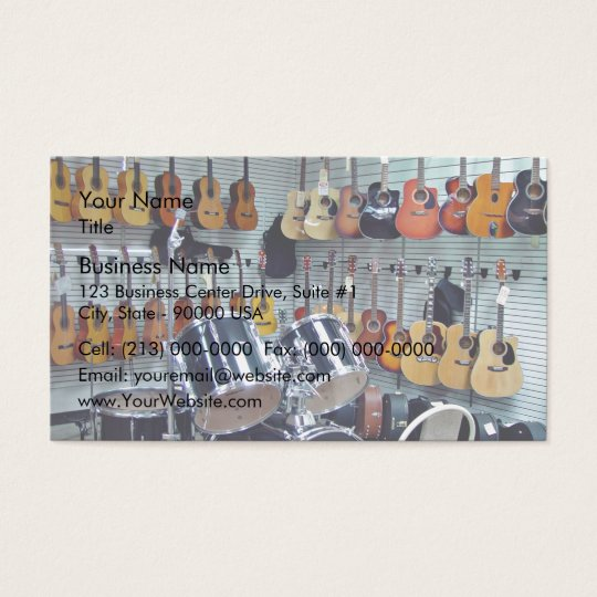 View of Musical instruments Business Card