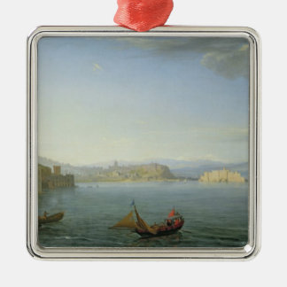 View of Naples, 1750 Christmas Ornament